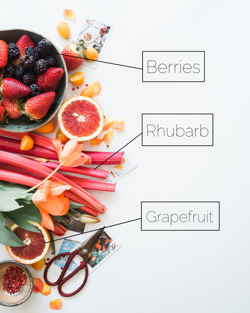 Berries Rhubarb Grapefruit Instagram Post Template