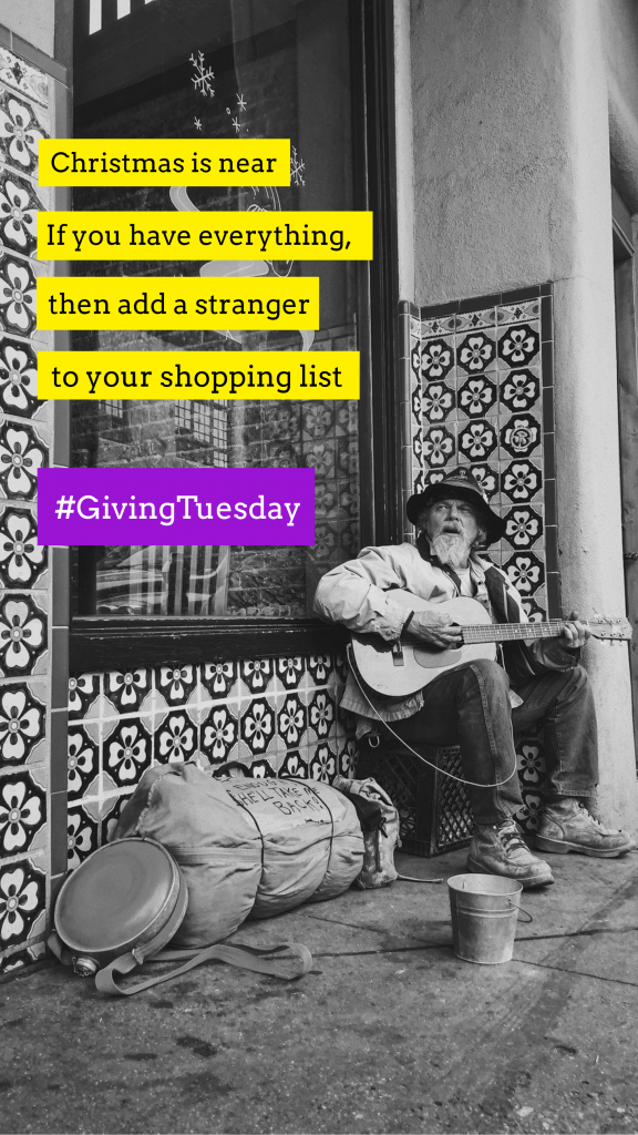 Christmas is near If you have everything, then add a stranger to your shopping list #GivingTuesday Instagram Story Template