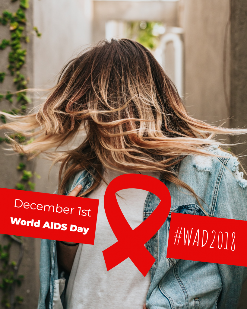 December 1st World AIDS Day #WAD2018 Instagram Post Template