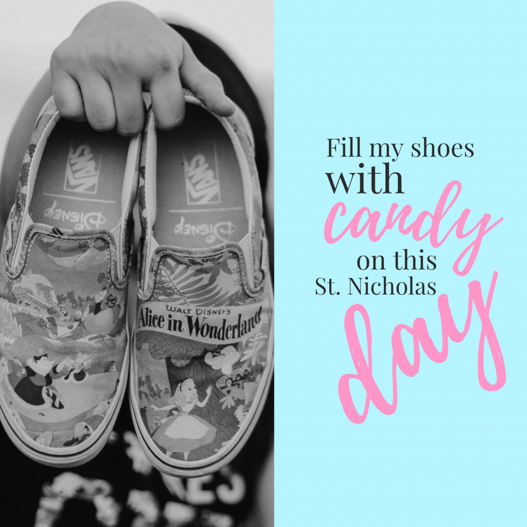 Fill my shoes with candy on this St. Nicholas day Instagram Post Template