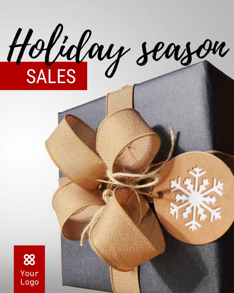 Holiday season SALES Your Logo Instagram Post Template