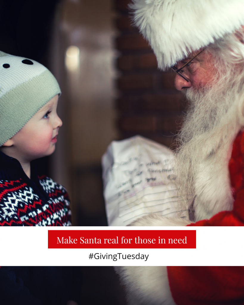 Make Santa real for those in need #GivingTuesday Instagram Post Template