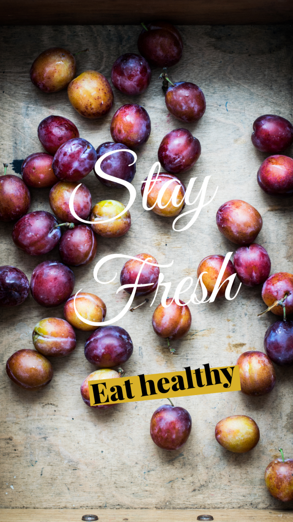 Stay Fresh Eat healthy Instagram Story Template