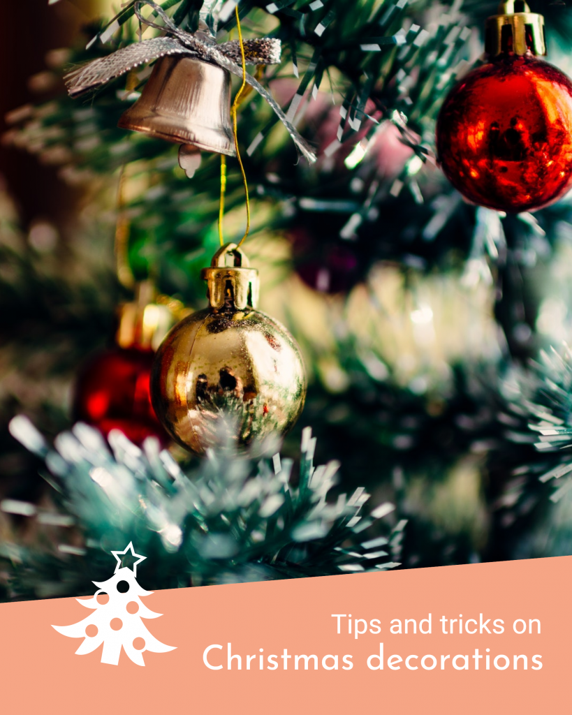 Tips and tricks on Christmas decorations Instagram Post Template