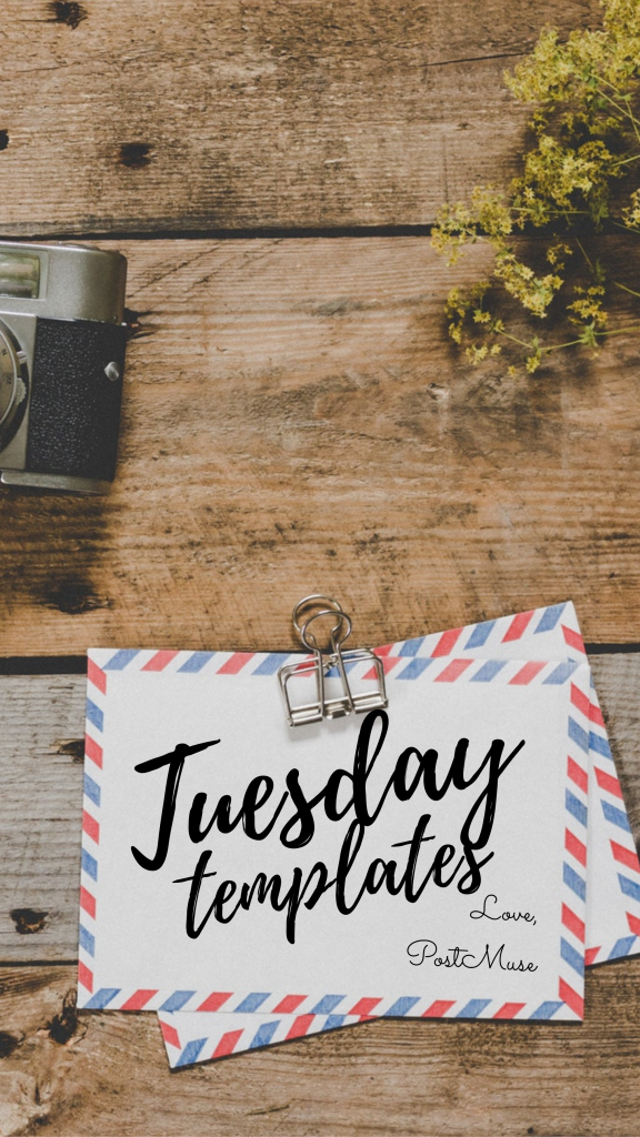 Tuesday templates Love, PostMuse Instagram Story Template
