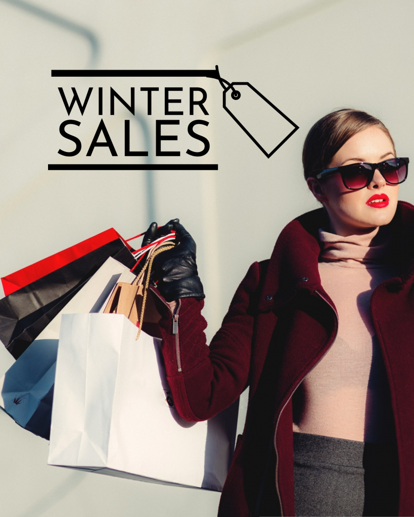 WINTER SALES Instagram Post Template