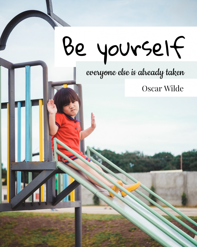 Be yourself everyone else is already taken Oscar Wilde Instagram Post Template