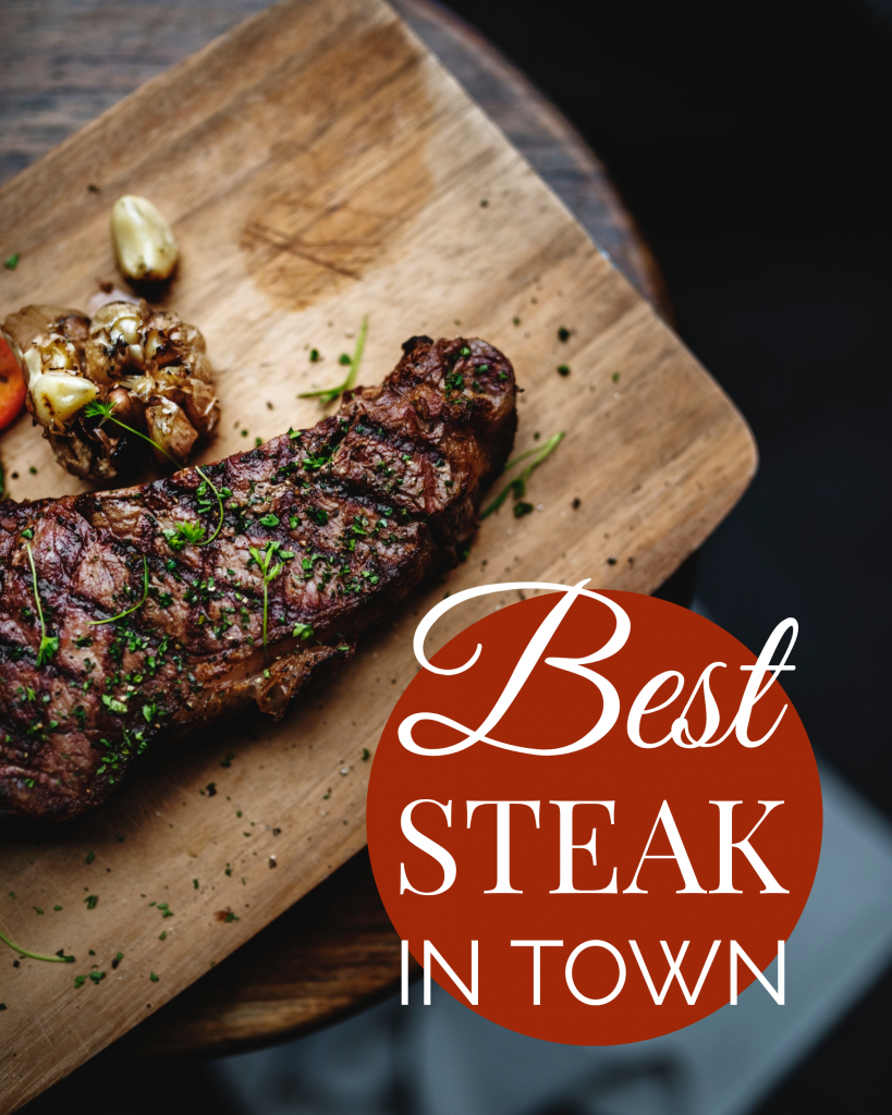 Best STEAK IN TOWN Instagram Post Template