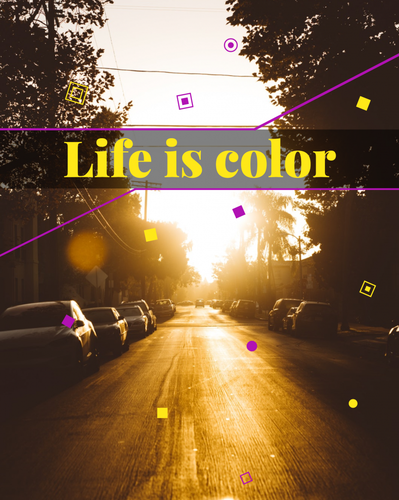 Life is color Instagram Post Template