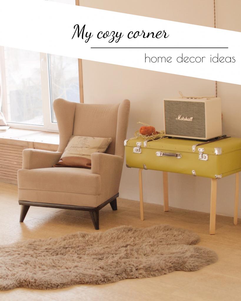 My cozy corner home decor ideas Instagram Post Template