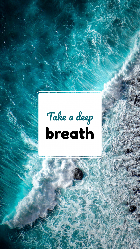 Take a deep breath Instagram Story Template