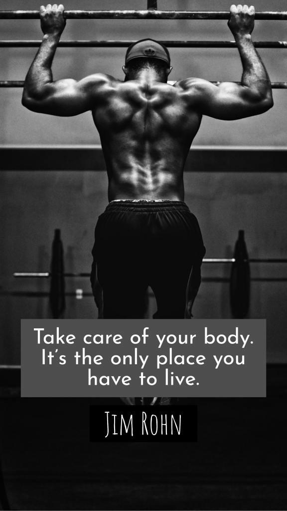Take care of your body. It's the only place you have to live. Jim Rohn Instagram Story Template