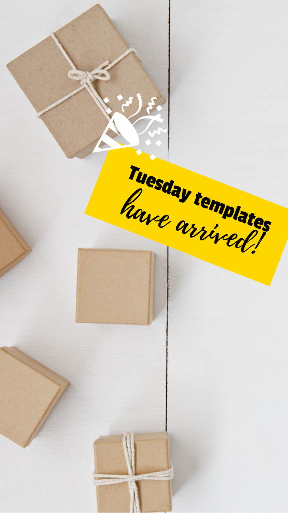 Tuesday templates have arrived! Instagram Story Template