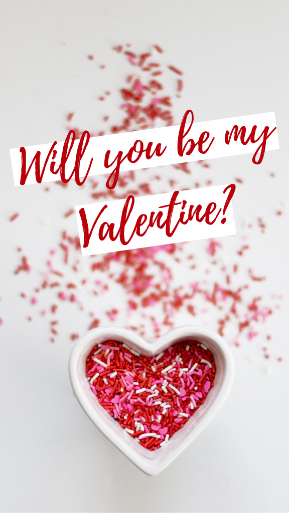 Will you be my Valentine? Story Template