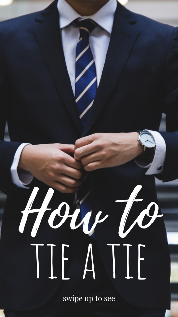 How to tie a tie swipe up to see Instagram Story Template