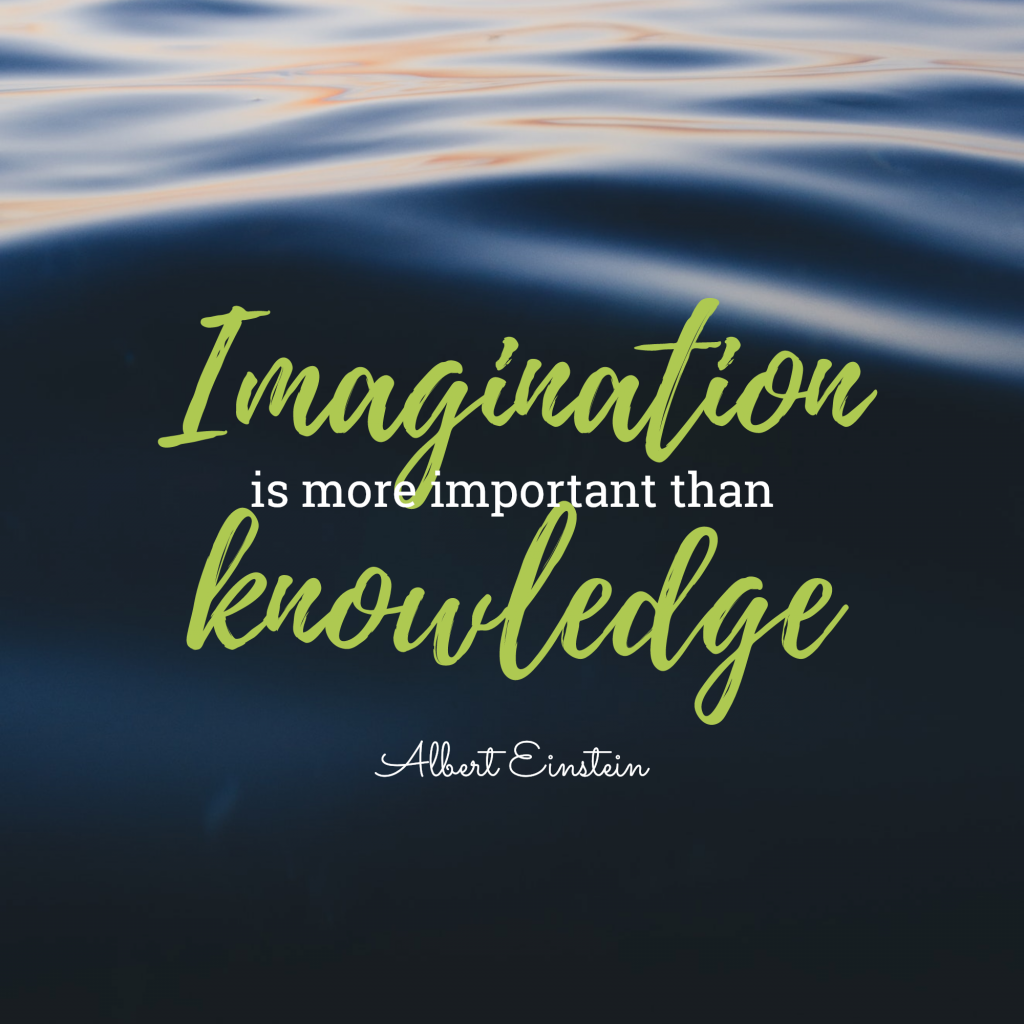 Imagination is more important than knowledge Albert Einstein Instagram Post Template