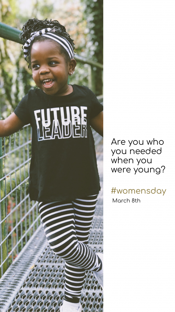 Are you who you needed when you were young? #womensday March 8th Instagram Story Template