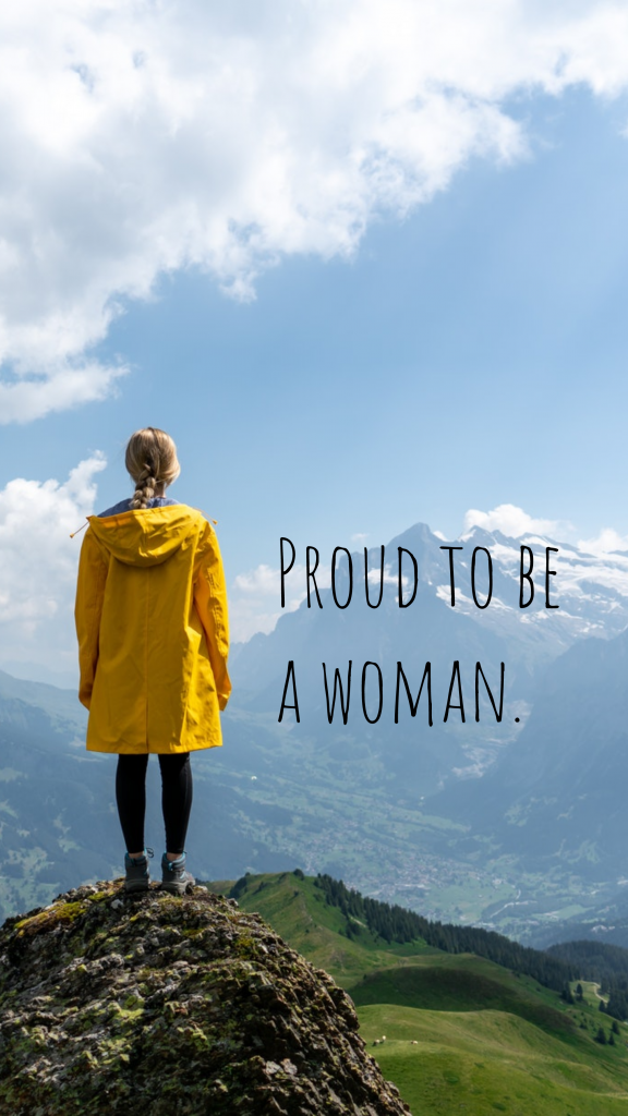 Proud to be a woman. Instagram Story Template