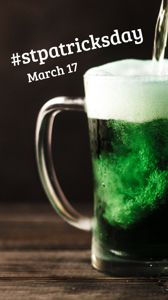 #stpatricksday March 17 Instagram Story Template