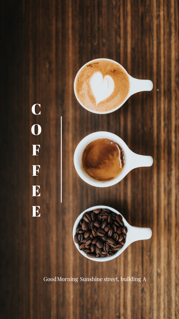 Food Story collection - COFFEE Good Morning Sunshine street, building A Instagram Story Template