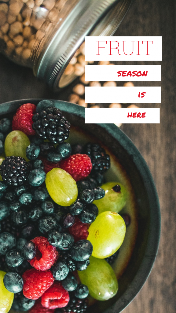 Food Story collection - FRUIT season is here Instagram Story Template