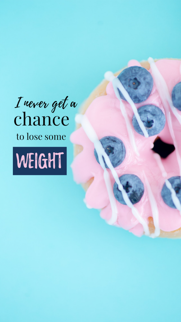 Food Story collection - I never get a chance  to lose some weight Instagram Story Template