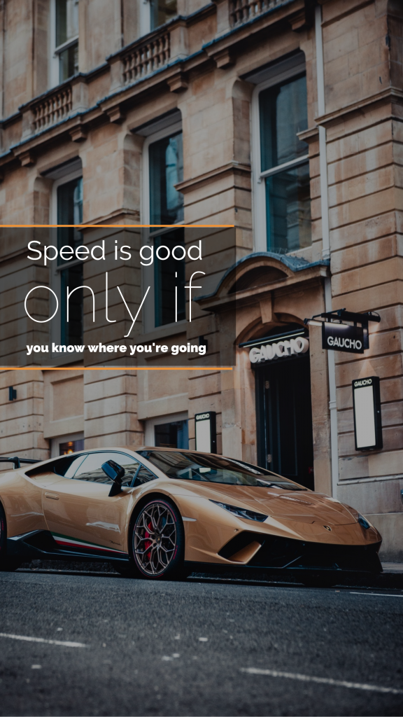 Quote Story collection - Speed is good only if you know where you're going Instagram Story Template