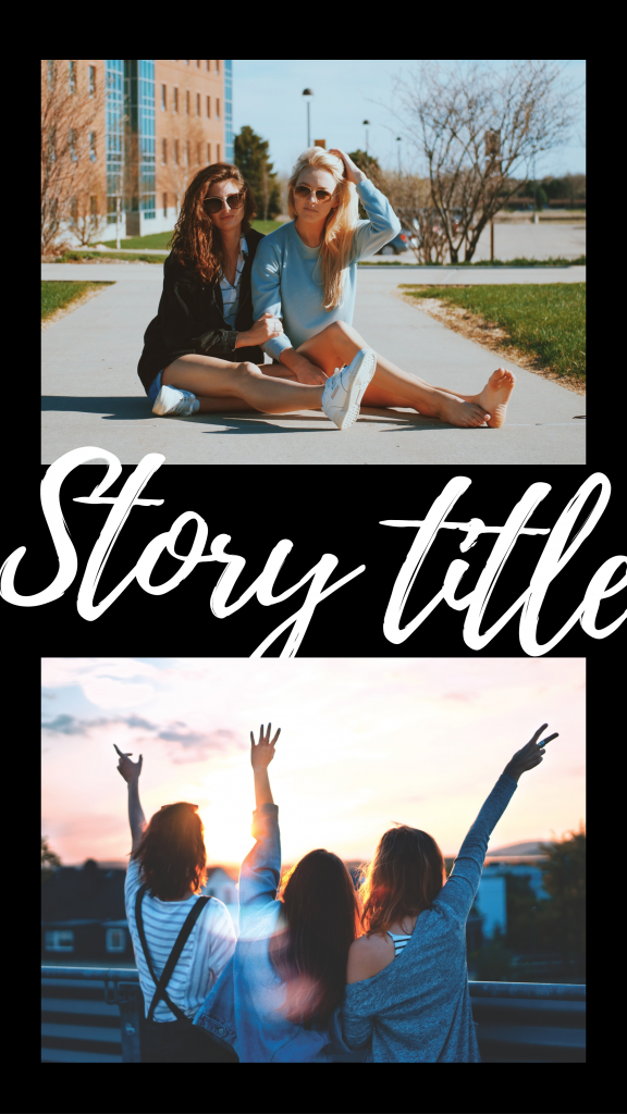 Black and bold collection - Story title Instagram Story Template