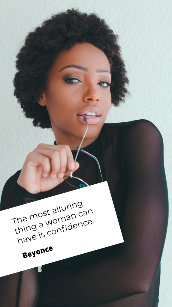 Quote Story collection - The most alluring thing a woman can have is confidence. Beyonce Instagram Story Template