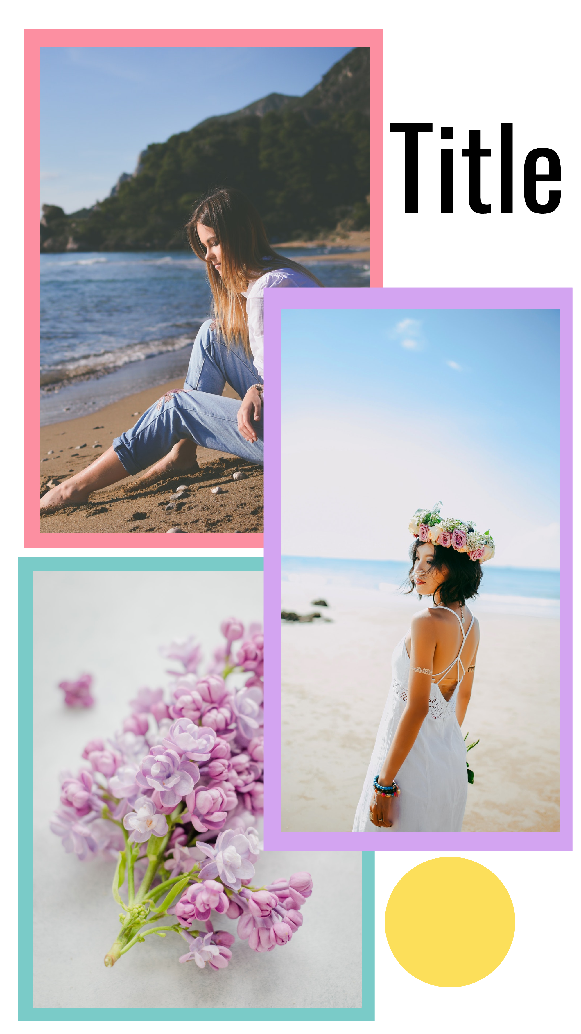 Happy Pastel collection - Title Instagram Story Template
