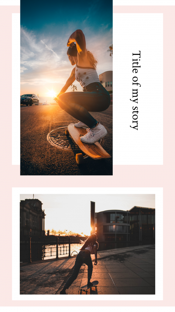 Peach: Title of my story Instagram Story Template