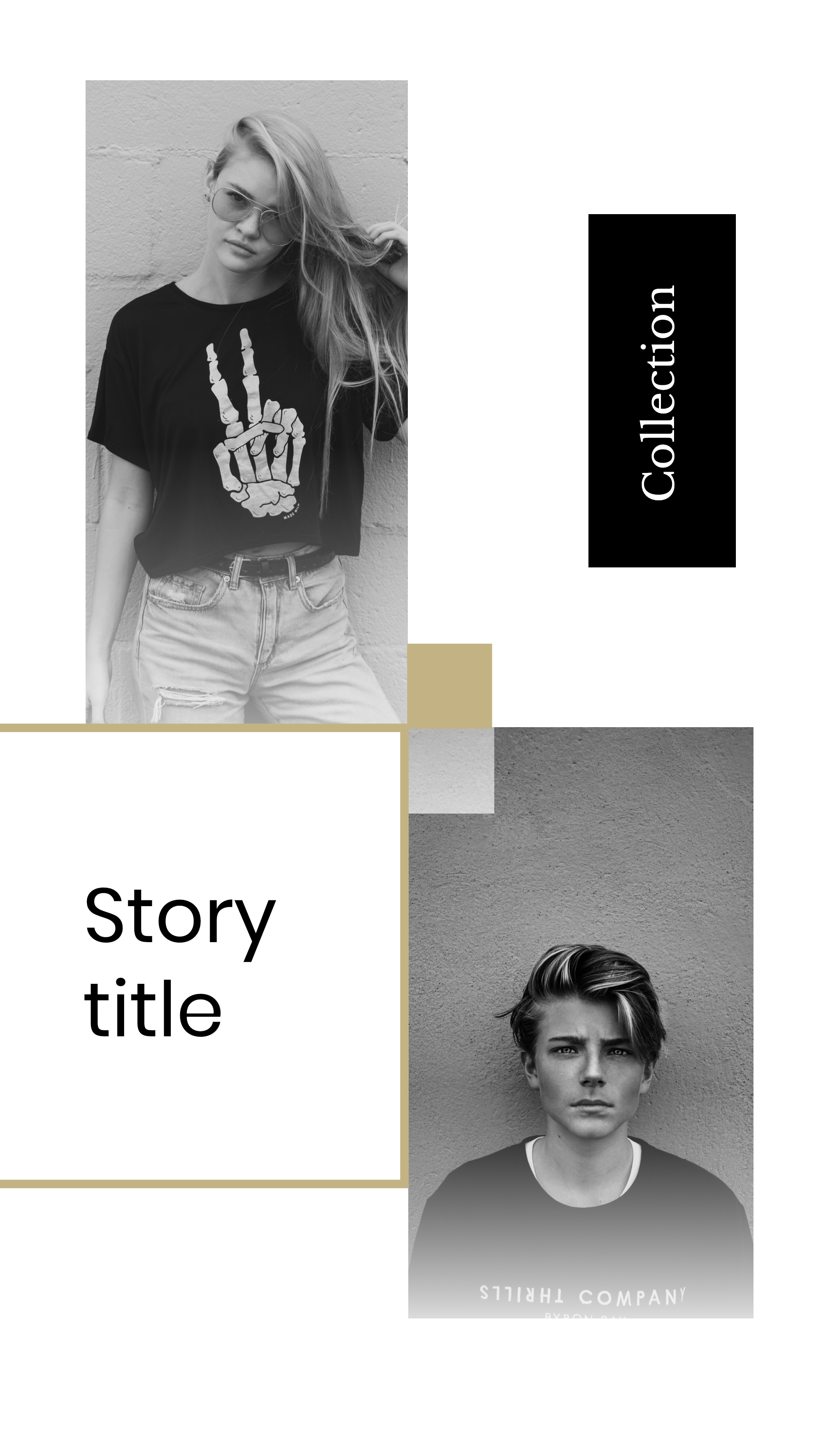 #minimalist collection - Collection Story title Instagram Story Template