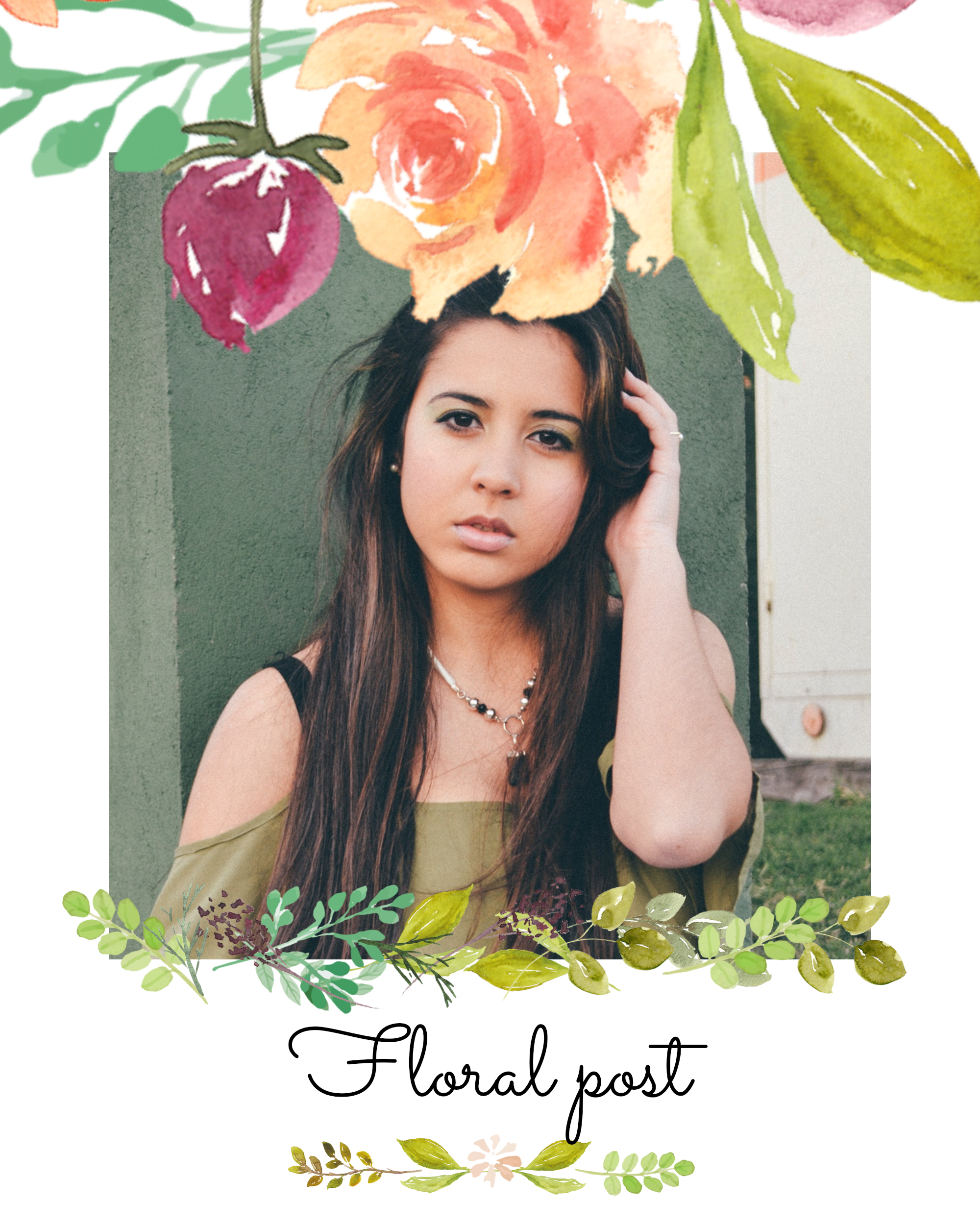 #pastelflowers post collection - Floral post Instagram Post Template