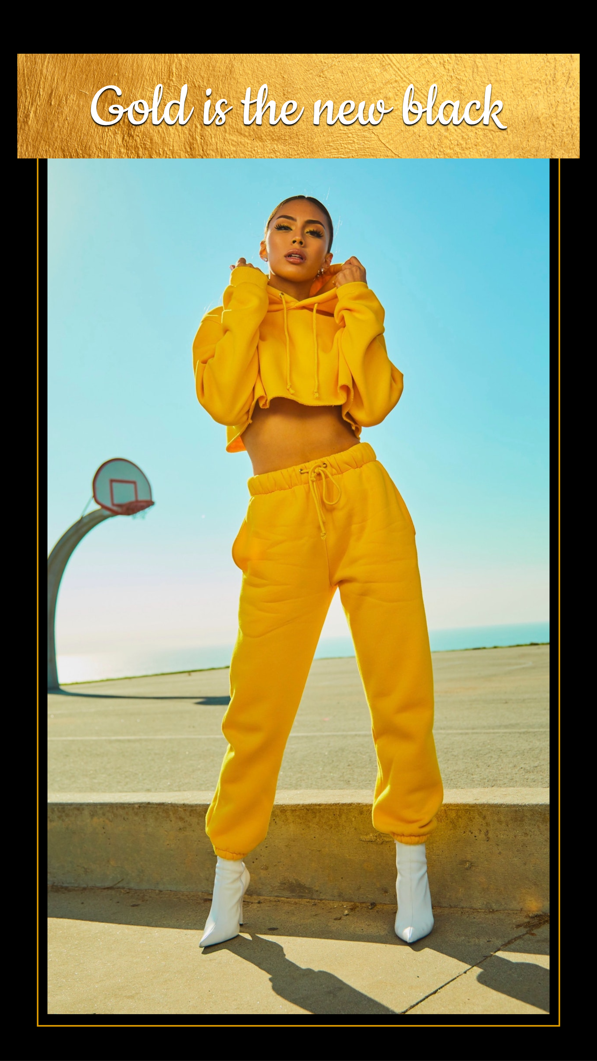 #goldisthenewblack (FREE today) collection - Gold is the new black Instagram Story Template