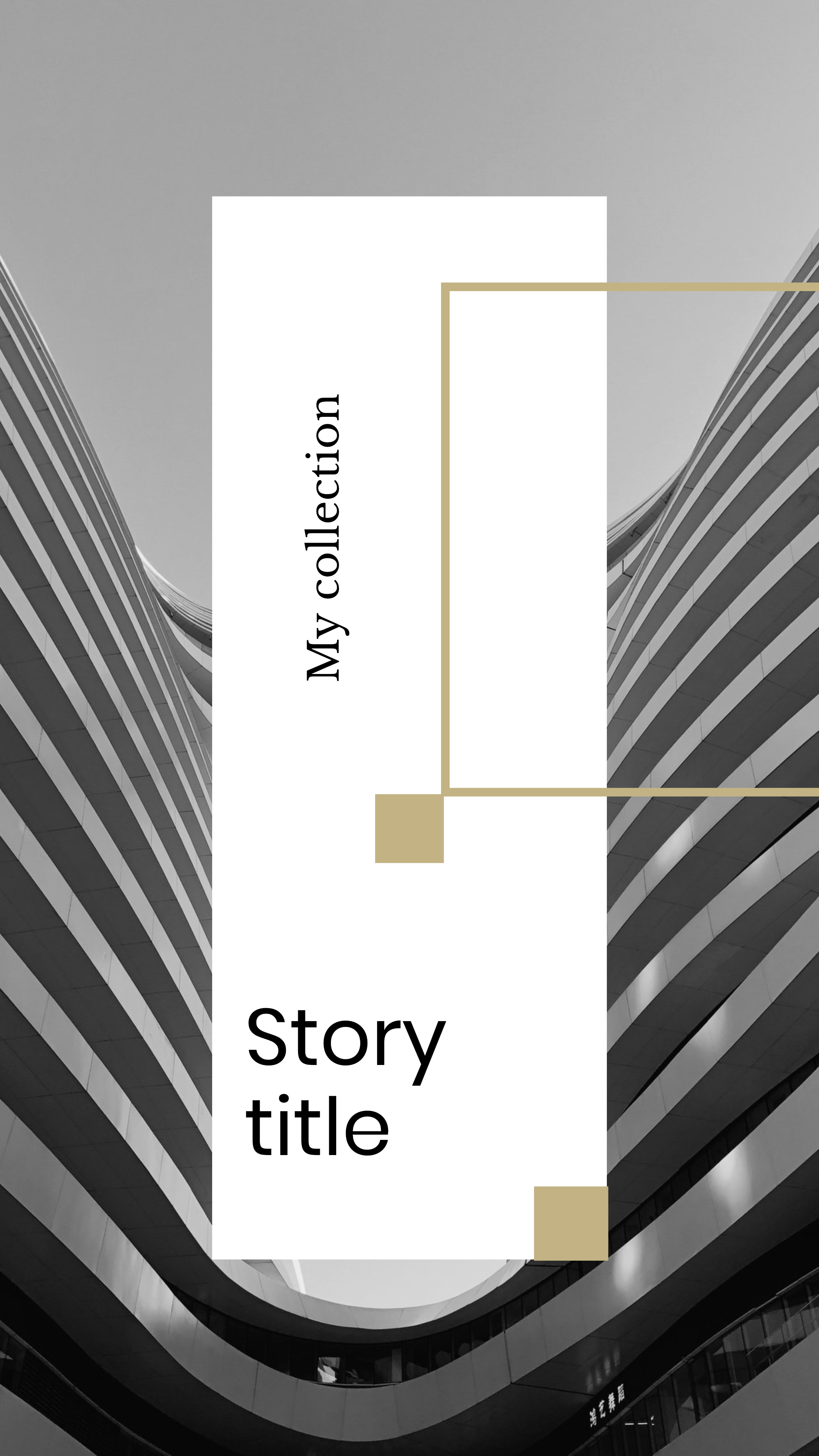 #minimalist collection - My collection Story title Instagram Story Template