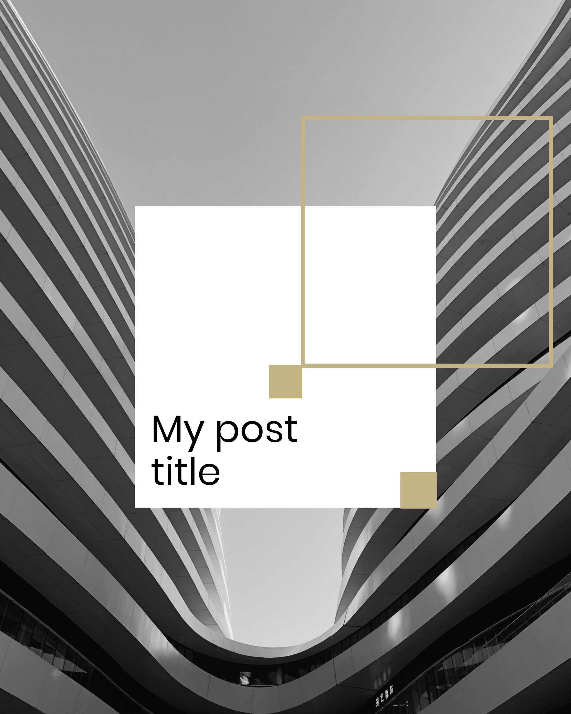 #minimalist collection - My post title Instagram Post Template