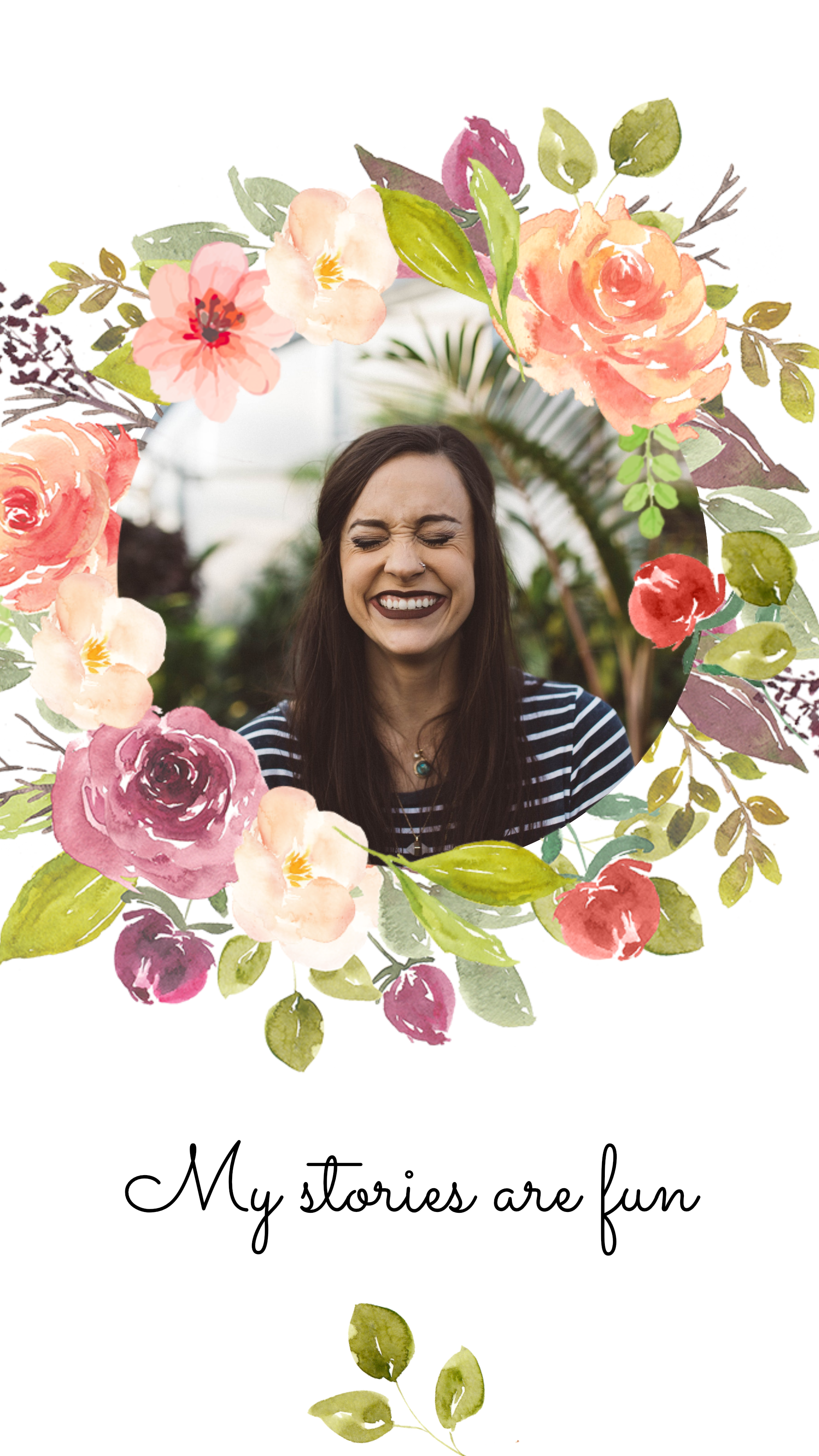 #pastelflowers collection - My stories are fun Instagram Story Template