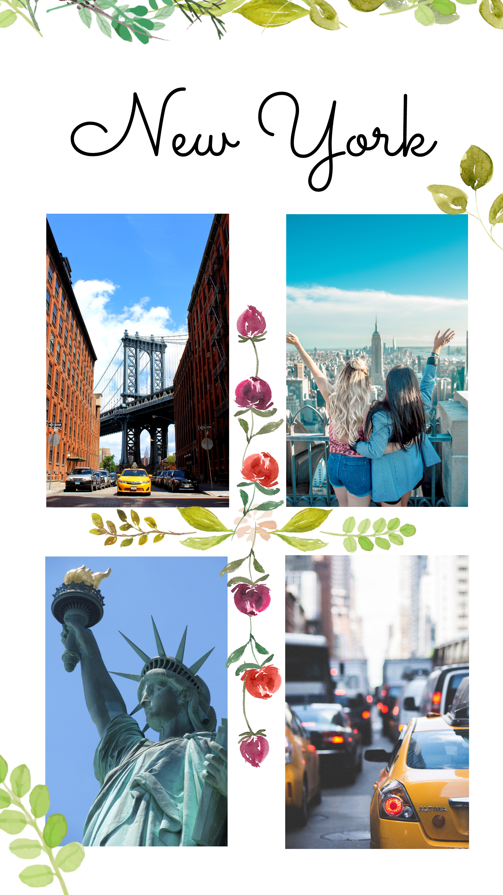 #pastelflowers collection - New York Instagram Story Template