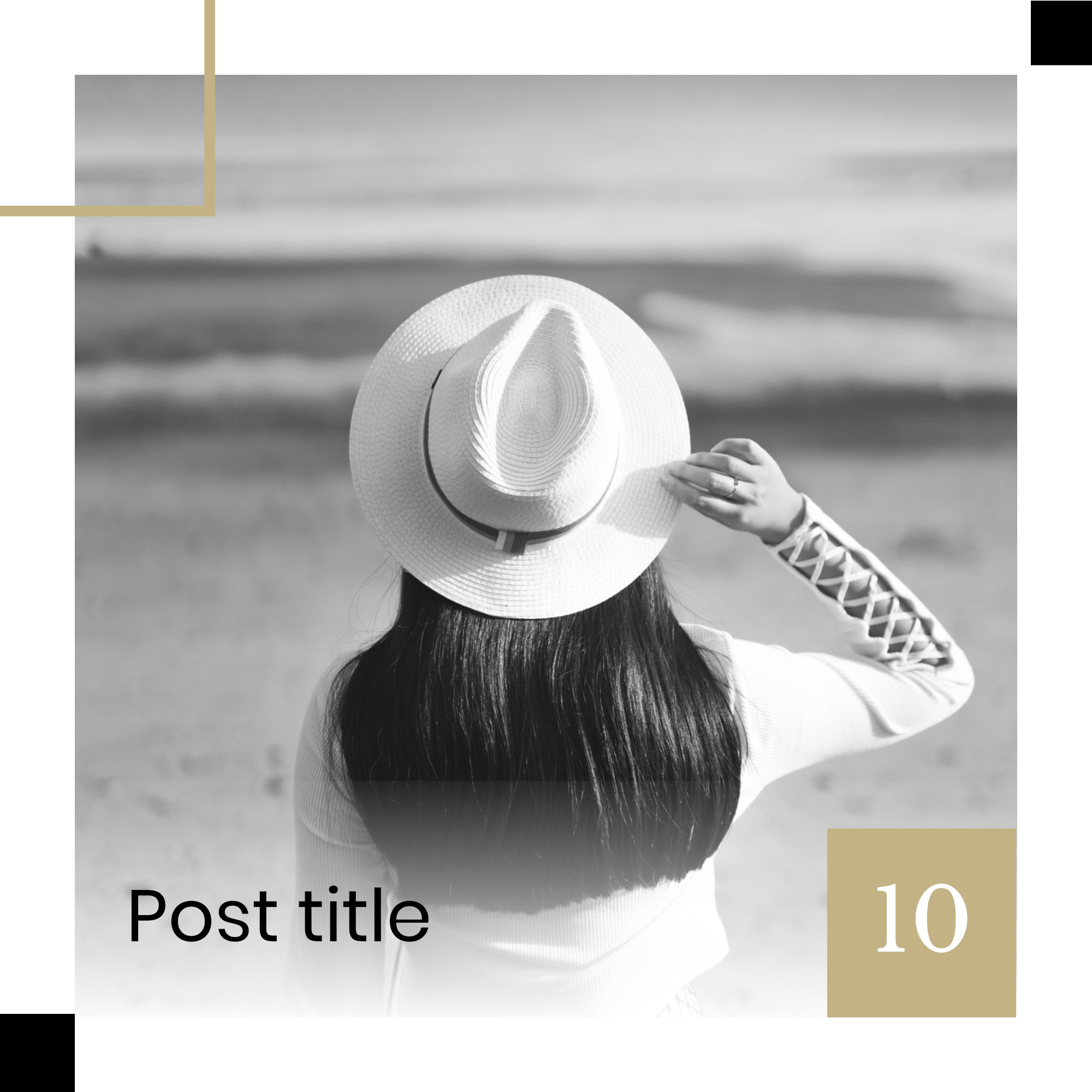 #minimalist collection - Post title 10 Instagram Post Template