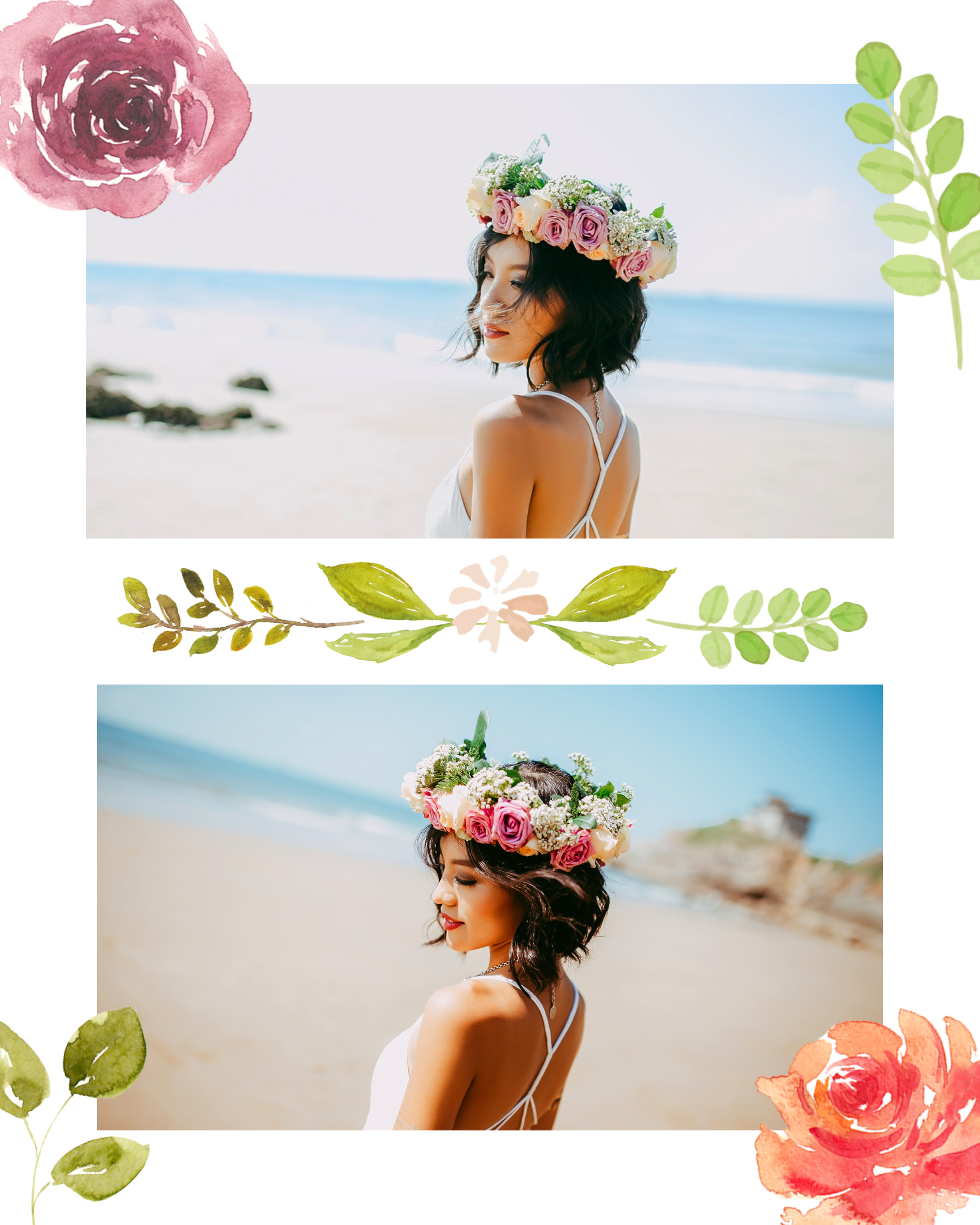 #pastelflowers post collection - PostMuse Instagram Post Template