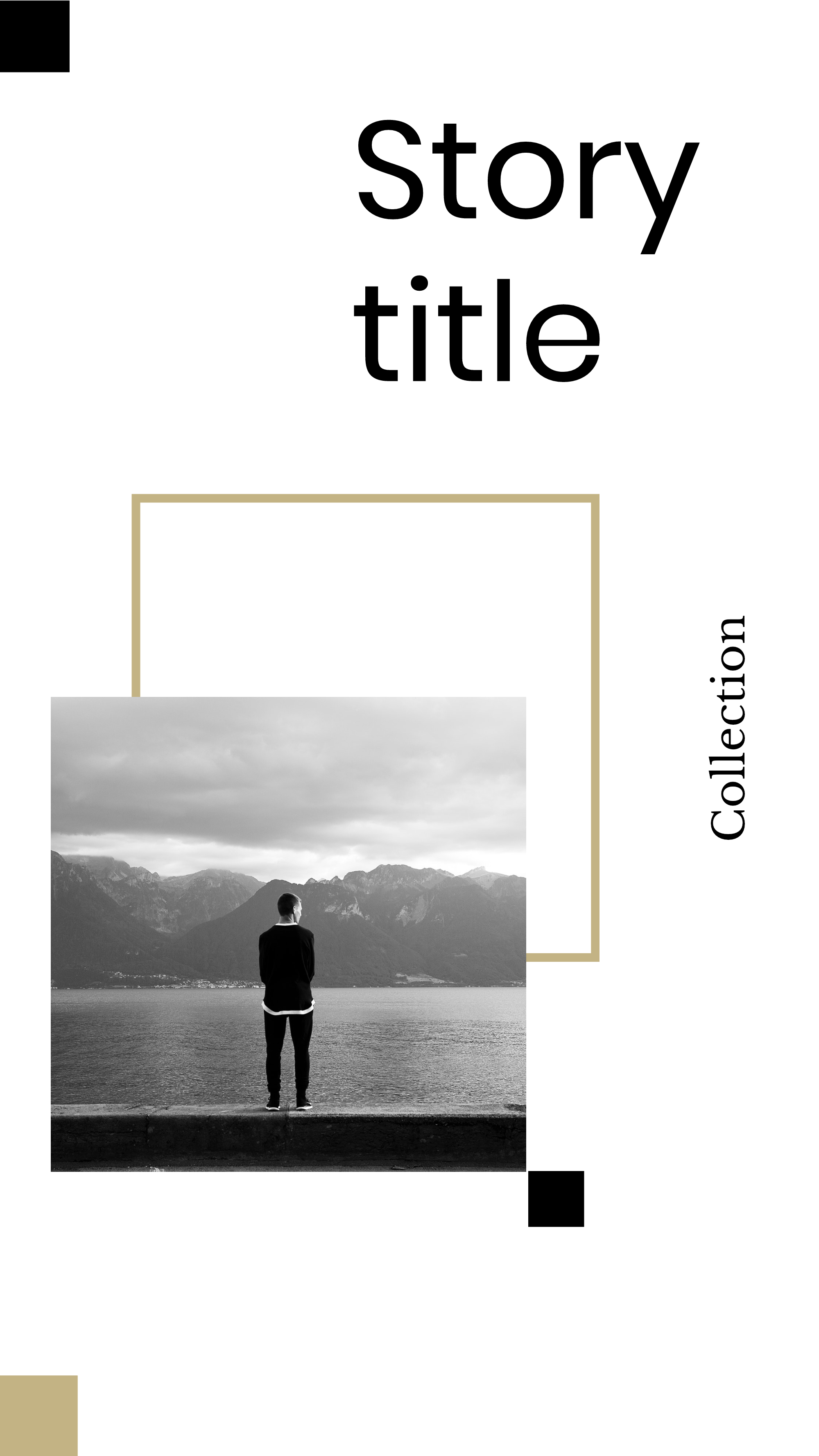 #minimalist collection - Story title Collection Instagram Story Template