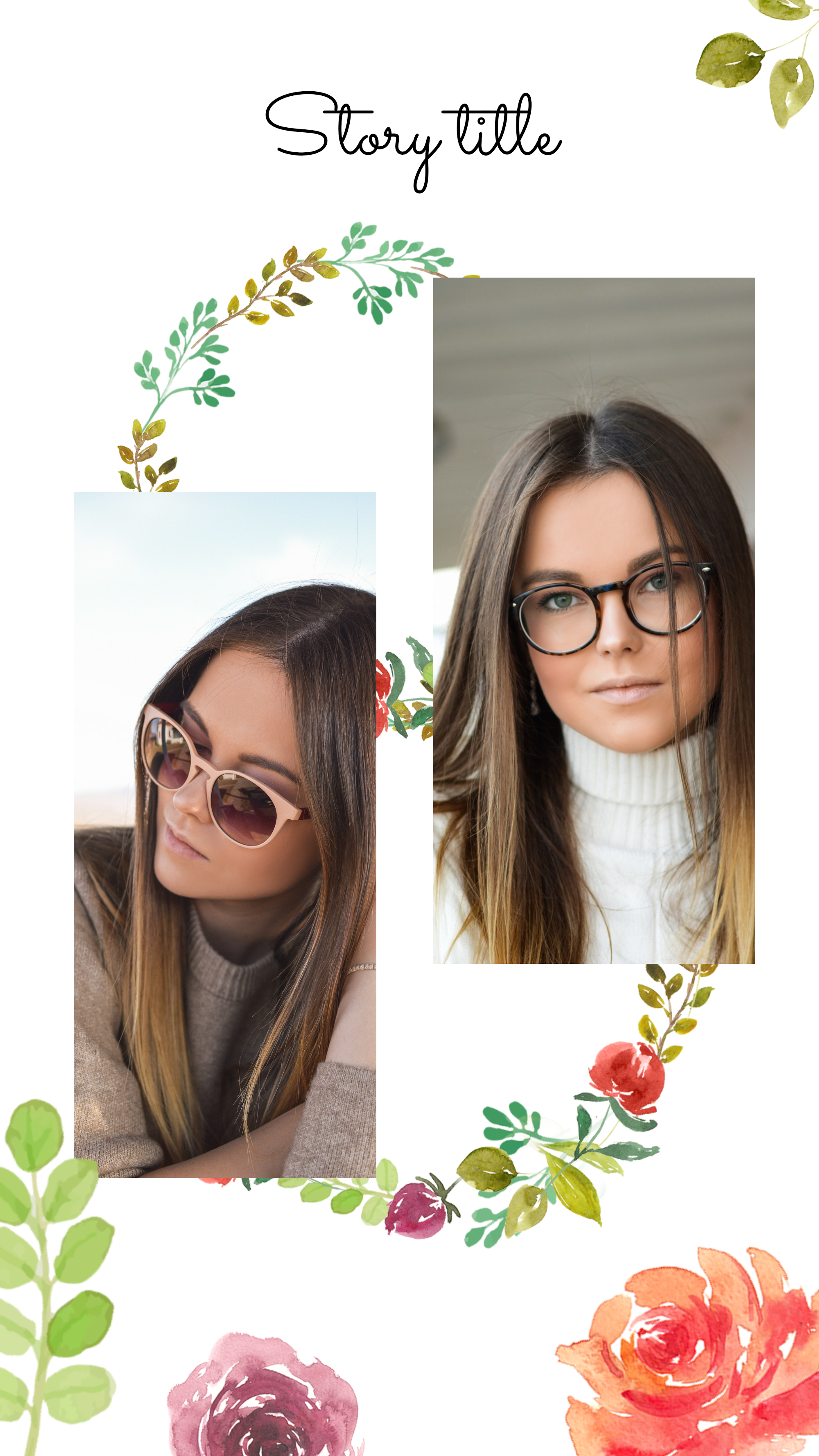 #pastelflowers collection - Story title Instagram Story Template