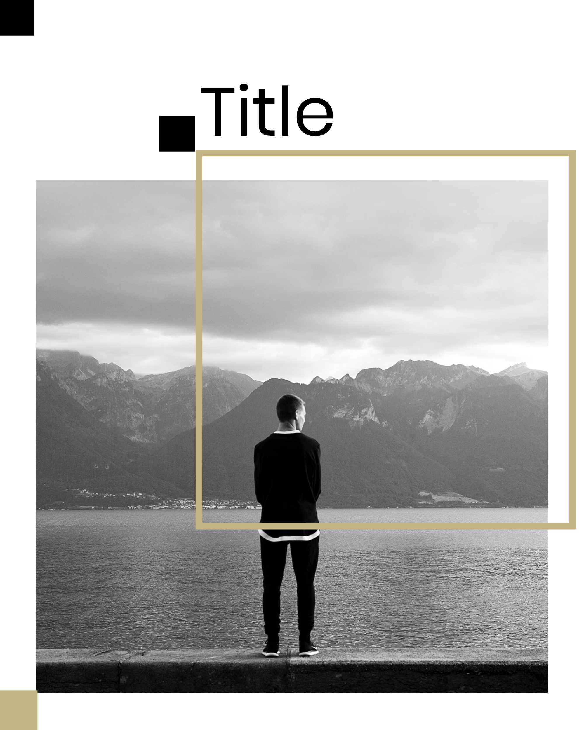 #minimalist collection - Title Instagram Post Template