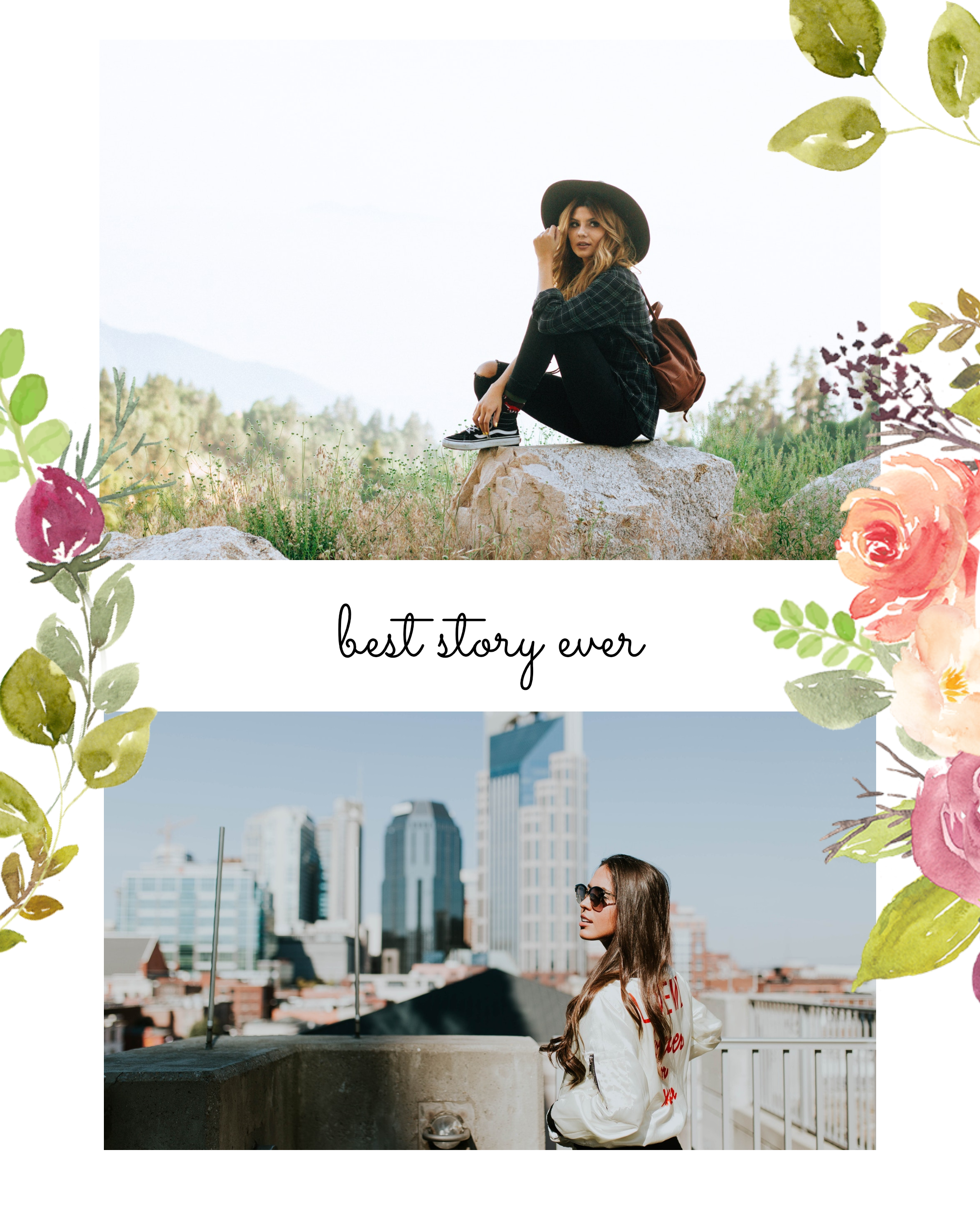 #pastelflowers post collection - best story ever Instagram Post Template
