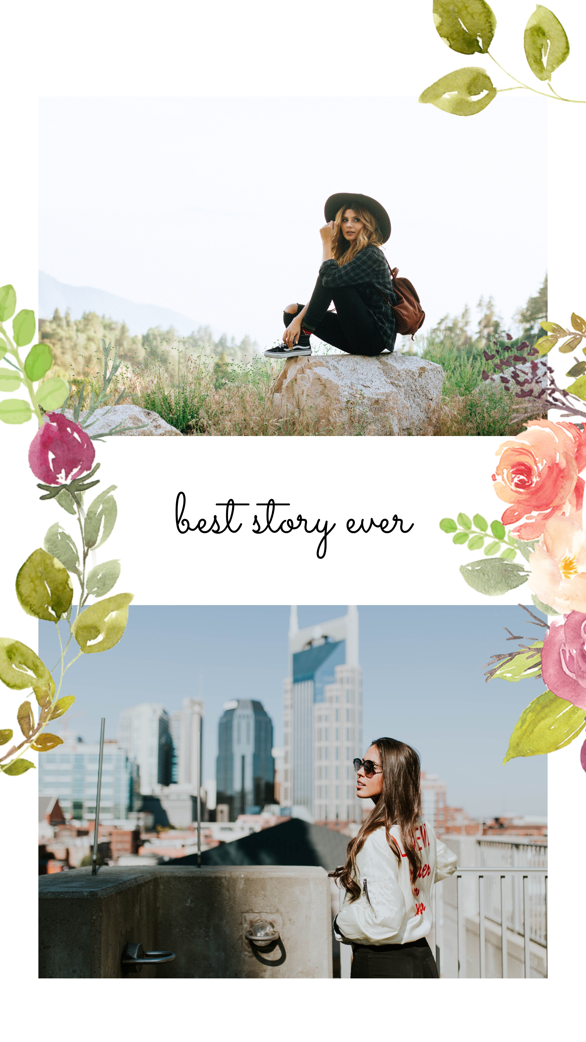 #pastelflowers collection - best story ever Instagram Story Template