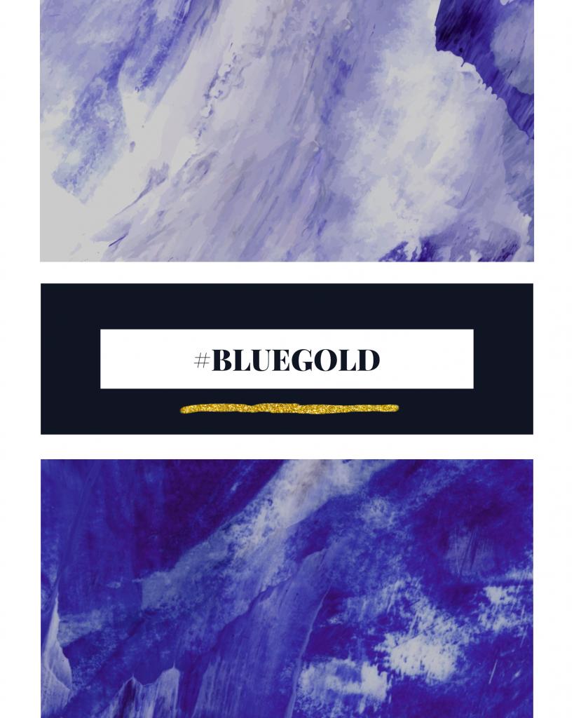 #BLUEGOLD Instagram Post Template