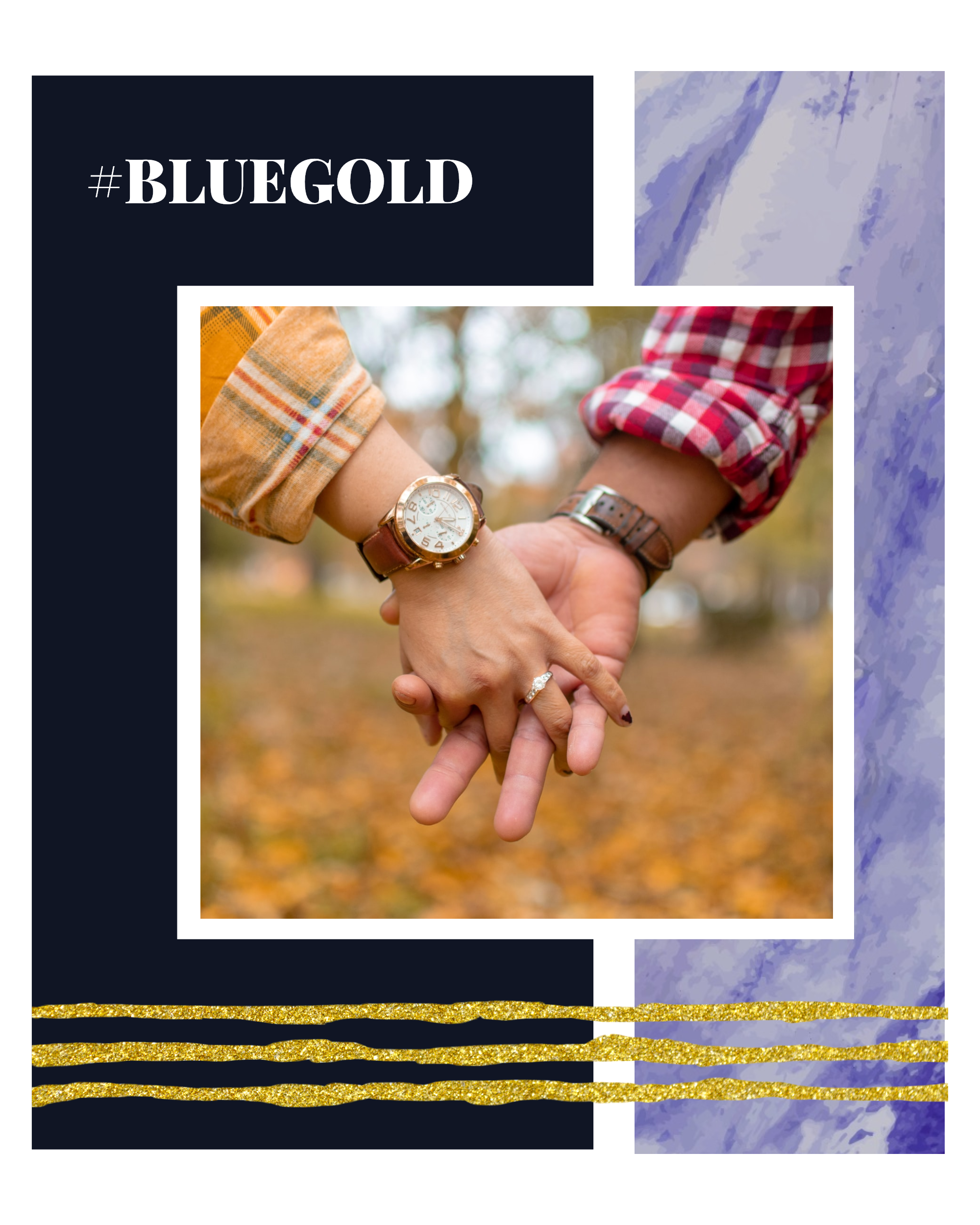 #bluegold Post collection - #BLUEGOLD Instagram Post Template