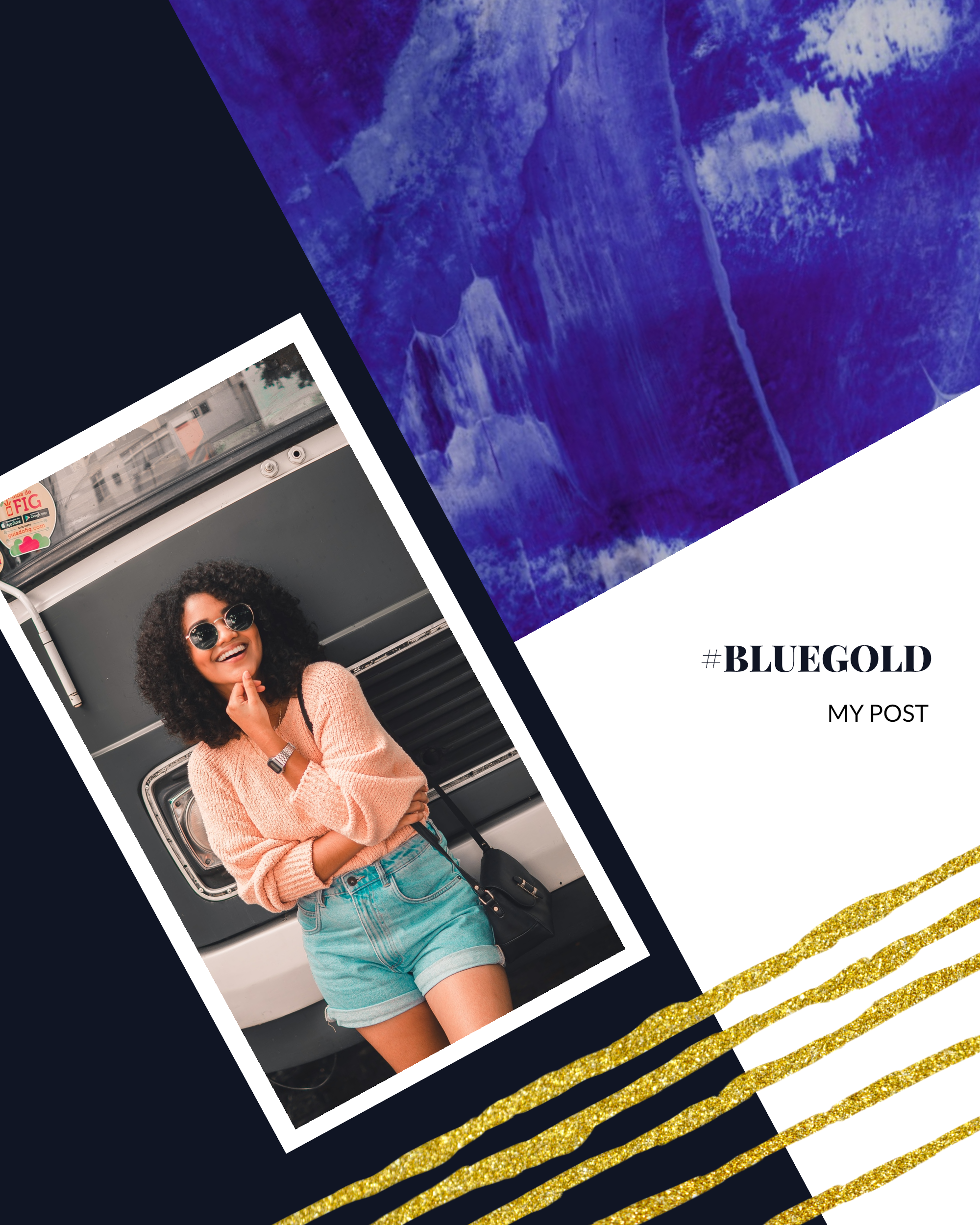 #bluegold Post collection - #BLUEGOLD MY POST Instagram Post Template