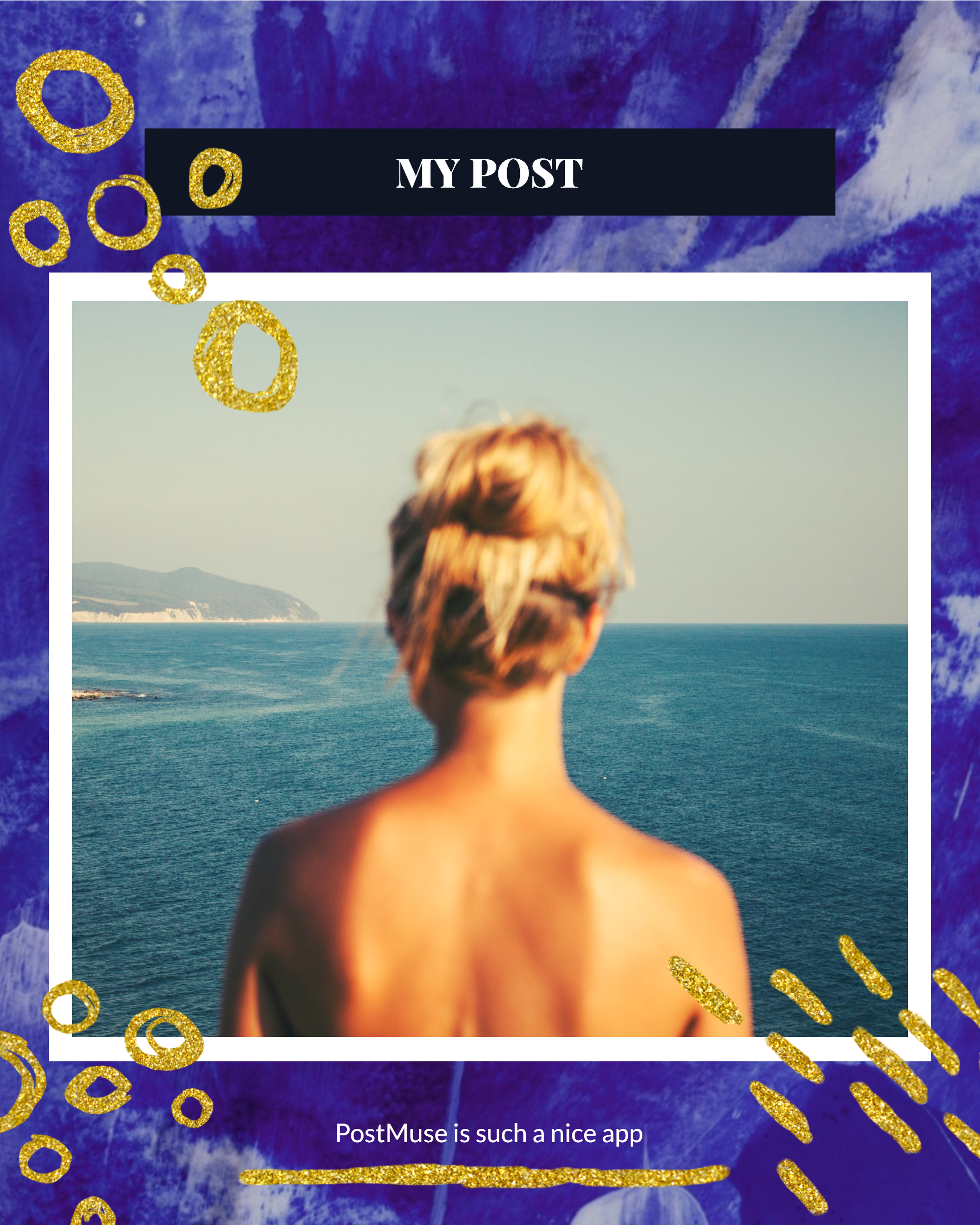 #bluegold Post collection - MY POST PostMuse is such a nice app Instagram Post Template