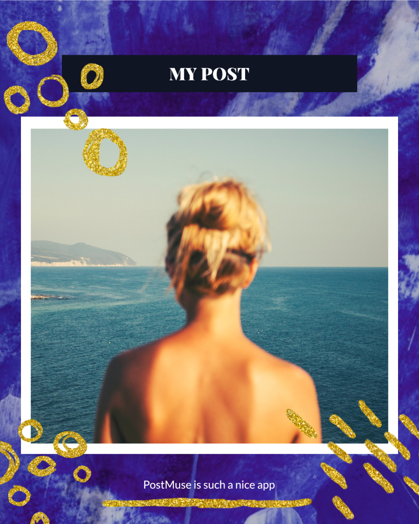 MY POST PostMuse is such a nice app Instagram Post Template
